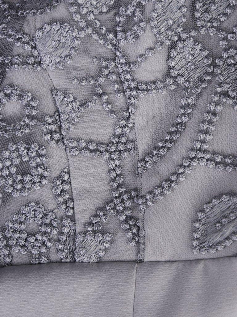 e022224d Modna sukienka z koronkowym topem 15306, elegancka kreacja na wesele ...