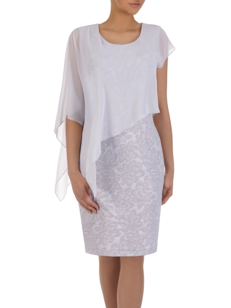 e5bb6689b3 Wzorzysta sukienka z asymetryczną