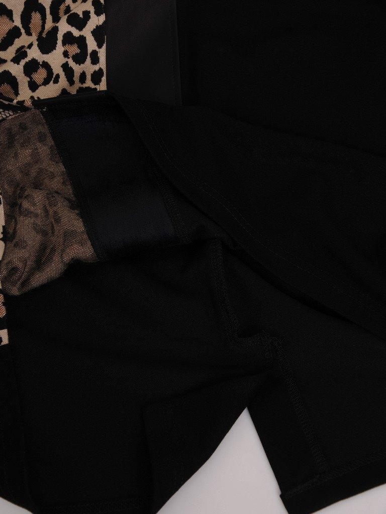 Sukienka wyszczuplająca 18077, jesienna kreacja z dzianiny