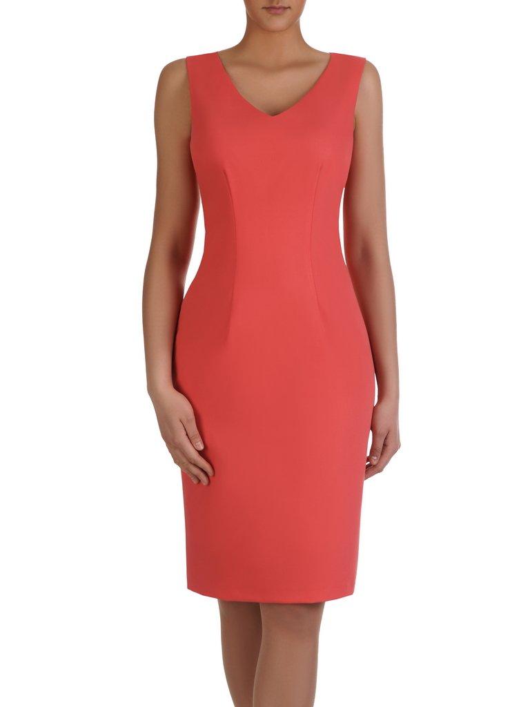 7dbb9020 Sukienka wyszczuplająca 2w1 15406, prosta kreacja z luźną, szyfonową ...